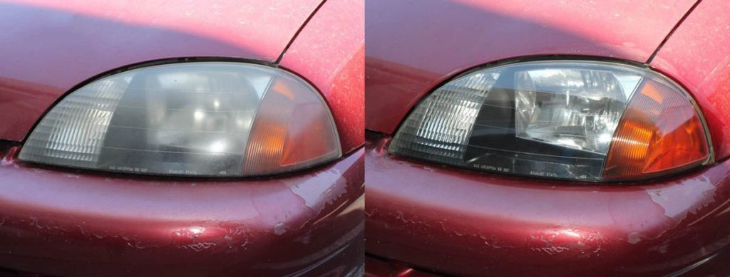 before use headlight restore kit and after use