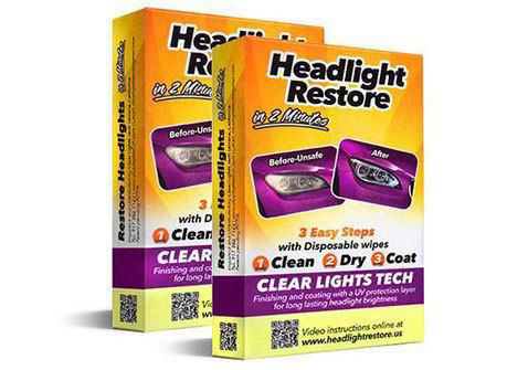 The Perfect Headlights Restoration Kit - 2 Sets - 70% OFF!