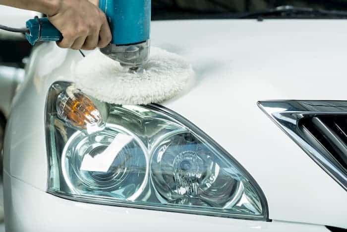 restore headlights - Polish the Lens with a Buffing Pad