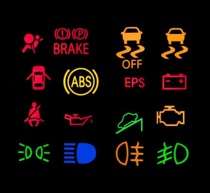 10 car dashboard warning lights symbols meanings